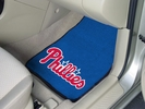 "Fan Mats 6452  MLB - Philadelphia Phillies 17"" x 27"" Carpeted Car Mat Set"