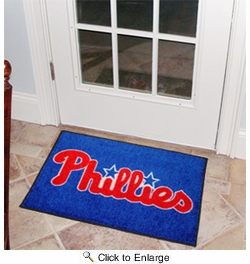 "Fan Mats 6453  MLB - Philadelphia Phillies 19"" x 30"" Starter Series Area Rug / Mat"