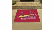 "Fan Mats 6502  MLB - St Louis Cardinals 33.75"" x 42.5"" All-Star Series Area Rug / Mat"