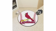 "Fan Mats 6503  MLB - St Louis Cardinals 27"" Diameter Baseball Shaped Area Rug"