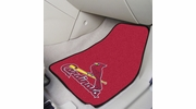 "Fan Mats 6504  MLB - St Louis Cardinals 17"" x 27"" Carpeted Car Mat Set"