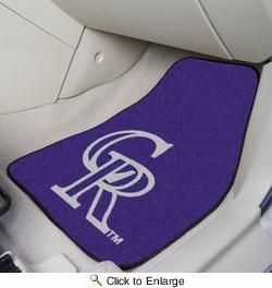 "Fan Mats 6518  MLB - Colorado Rockies 17"" x 27"" Carpeted Car Mat Set"