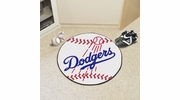 "Fan Mats 6524  MLB - Los Angeles Dodgers 27"" Diameter Baseball Shaped Area Rug"