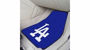 "Fan Mats 6526  MLB - Los Angeles Dodgers 17"" x 27"" Carpeted Car Mat Set"