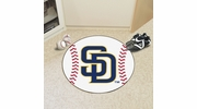 "Fan Mats 6532  MLB - San Diego Padres 27"" Diameter Baseball Shaped Area Rug"