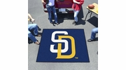 Fan Mats 6536  MLB - San Diego Padres 5' x 6' Tailgater Mat / Area Rug