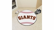 "Fan Mats 6539  MLB - San Francisco Giants 27"" Diameter Baseball Shaped Area Rug"