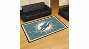 Fan Mats 6587  NFL - Miami Dolphins 5' x 8' Area Rug