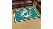 Fan Mats 6588  NFL - Miami Dolphins 4' x 6' Area Rug