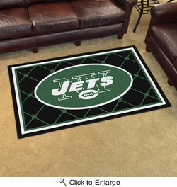 Fan Mats 6596  NFL - New York Jets 4' x 6' Area Rug