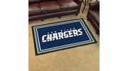 Fan Mats 6602  NFL - San Diego Chargers 4' x 6' Area Rug