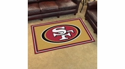 Fan Mats 6604  NFL - San Francisco 49ers 4' x 6' Area Rug