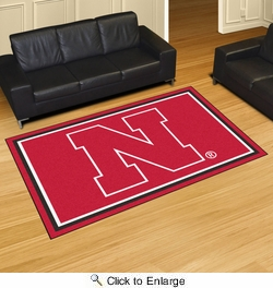 Fan Mats 6651  NU - University of Nebraska Cornhuskers 5' x 8' Area Rug