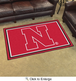 Fan Mats 6652  NU - University of Nebraska Cornhuskers 4' x 6' Area Rug