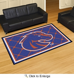Fan Mats 6796  Boise State University Broncos 5' x 8' Area Rug