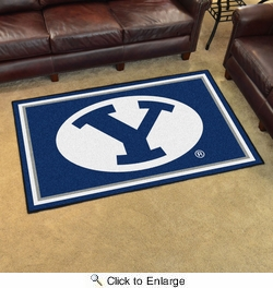 Fan Mats 6986  BYU - Brigham Young University Cougars 4' x 6' Area Rug