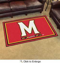 Fan Mats 6990  UM - University of Maryland Terrapins 4' x 6' Area Rug