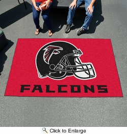 Fan Mats 6997  NFL - Atlanta Falcons 5' x 8' Ulti-Mat Area Rug / Mat