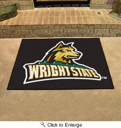 "Fan Mats 701  Wright State University Raiders 33.75"" x 42.5"" All-Star Series Area Rug / Mat"