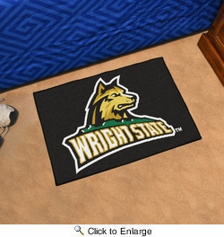 "Fan Mats 702  Wright State University Raiders 19"" x 30"" Starter Series Area Rug / Mat"