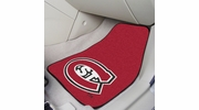 "Fan Mats 7043  St. Cloud State University Huskies 17"" x 27"" Carpeted Car Mat Set"