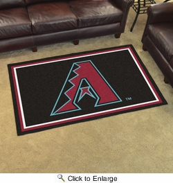 Fan Mats 7045  MLB - Arizona Diamondbacks 4' x 6' Area Rug