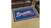 Fan Mats 7047  MLB - Atlanta Braves 4' x 6' Area Rug