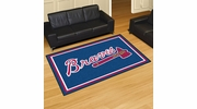 Fan Mats 7048  MLB - Atlanta Braves 5' x 8' Area Rug