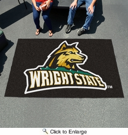 Fan Mats 705  Wright State University Raiders 5' x 8' Ulti-Mat Area Rug / Mat