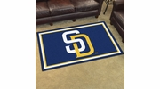 Fan Mats 7079  MLB - San Diego Padres 4' x 6' Area Rug