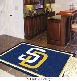 Fan Mats 7080  MLB - San Diego Padres 5' x 8' Area Rug