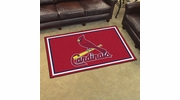 Fan Mats 7085  MLB - St Louis Cardinals 4' x 6' Area Rug