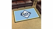 Fan Mats 7087  MLB - Tampa Bay Rays 4' x 6' Area Rug