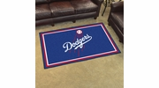 Fan Mats 7095  MLB - Los Angeles Dodgers 4' x 6' Area Rug