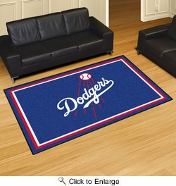 Fan Mats 7096  MLB - Los Angeles Dodgers 5' x 8' Area Rug