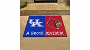 "Fan Mats 7106  Kentucky Wildcats vs Louisville Cardinals 33.75"" x 42.5"" House Divided Area Rug / Mat"