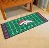 "Fan Mats 7350  NFL - Denver Broncos 30"" x 72"" Football Field-Shaped Runner Rug Mat"