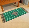"Fan Mats 7359  NFL - New Orleans Saints 30"" x 72"" Football Field-Shaped Runner Rug Mat"