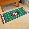 "Fan Mats 7365  NFL - San Francisco 49ers 30"" x 72"" Football Field-Shaped Runner Rug Mat"