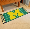 "Fan Mats 7549  UM - University of Michigan Wolverines 30"" x 72"" Football Field-Shaped Runner Rug"