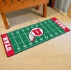 "Fan Mats 7565  University of Utah Utes 30"" x 72"" Football Field-Shaped Runner Rug"