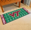 "Fan Mats 7567  VT - Virginia Tech Hokies 30"" x 72"" Football Field-Shaped Runner Rug"
