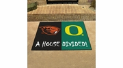 "Fan Mats 7653  Oregon State Beavers vs Oregon Ducks 33.75"" x 42.5"" House Divided Area Rug / Mat"