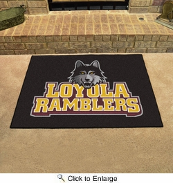 "Fan Mats 78  Loyola University Chicago Ramblers 33.75"" x 42.5"" All-Star Series Area Rug / Mat"