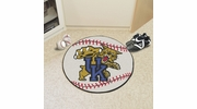 "Fan Mats 798  UK - University of Kentucky Wildcats 27"" Diameter Baseball Shaped Area Rug"