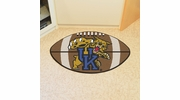 "Fan Mats 800  UK - University of Kentucky Wildcats 20.5"" x 32.5"" Football Shaped Area Rug"