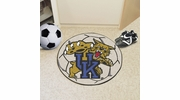 "Fan Mats 801  UK - University of Kentucky Wildcats 27"" Diameter Soccer Ball Shaped Area Rug"