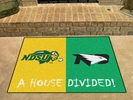 "Fan Mats 8031  North Dakota State Bison vs North Dakota Fighting Hawks 33.75"" x 42.5"" House Divided Mat"