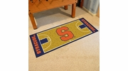"Fan Mats 8170  SU - Syracuse University Orange 30"" x 72"" NCAA Basketball Court-Shaped Runner Rug"