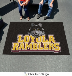 Fan Mats 82  Loyola University Chicago Ramblers 5' x 8' Ulti-Mat Area Rug / Mat